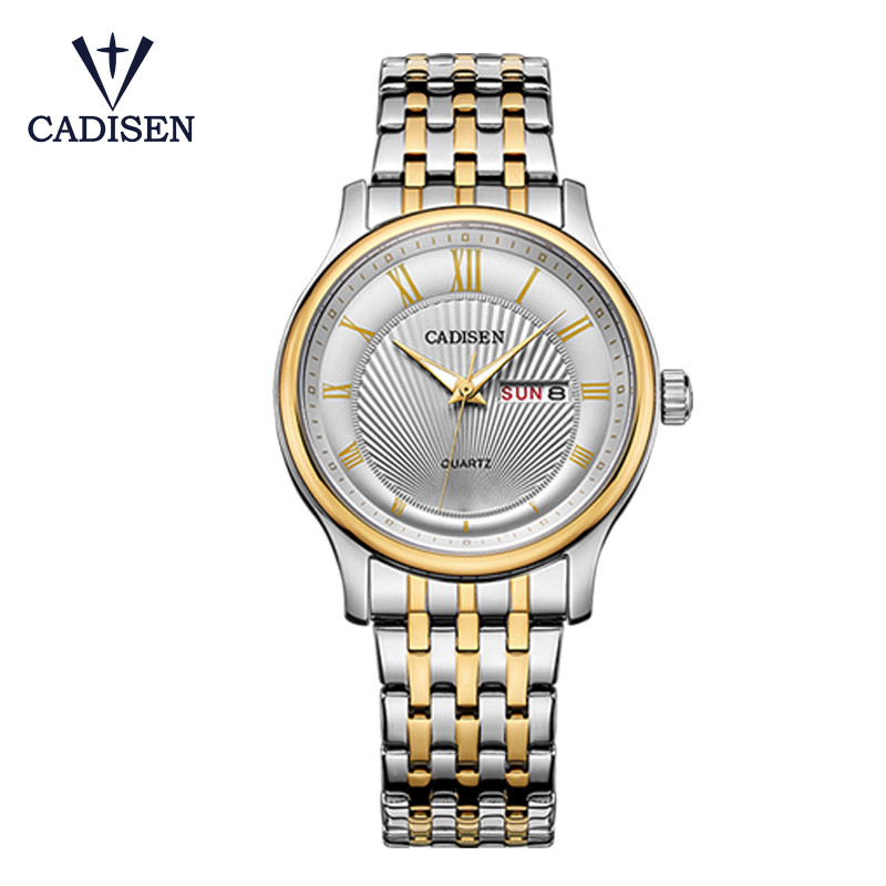 2017 CADISEN Brand Men Watches Luxury Casual Fashion Military  Sports Wristwatch Quartz Week Clock Male  Watch Relogio Masculino read men watch luxury brand watches quartz clock fashion leather belts watch cheap sports wristwatch relogio male pr56