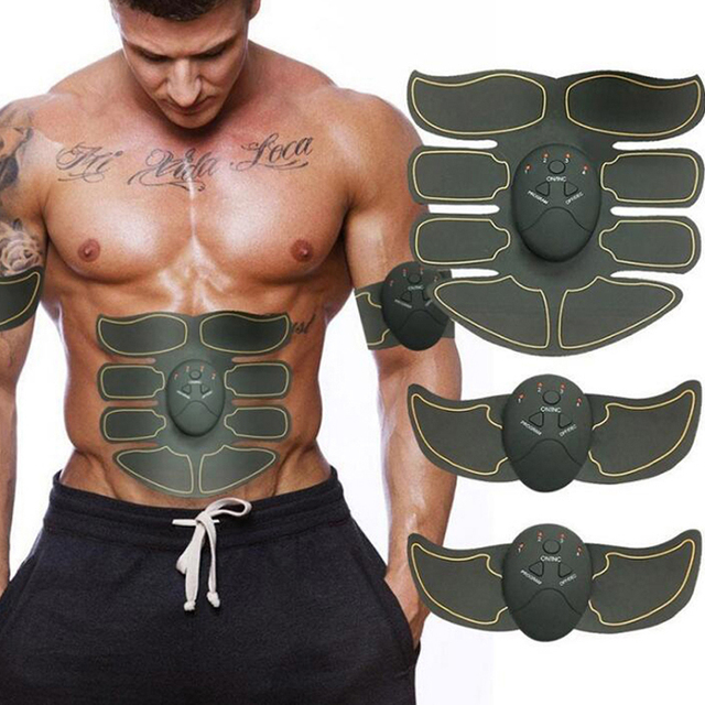 New Smart EMS Muscle Stimulator ABS Abdominal Muscle Toner Body Fitness Shaping Massage Patch Sliming Trainer Exerciser Unisex 1