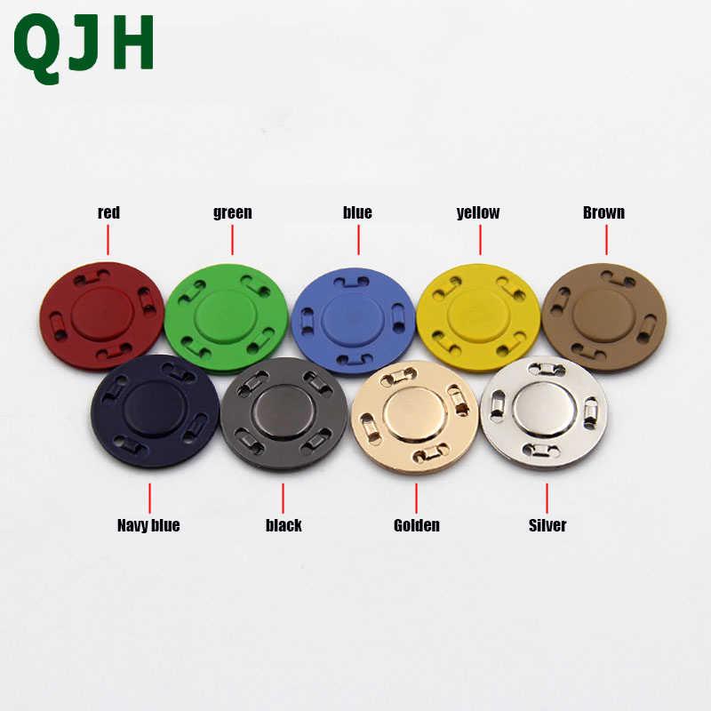 3 set/bolsa QJH suministros de costura piedra magnética hebilla oscura botones magnéticos automáticos DIY bolsa de doble cara imán botón 20mm tamaño