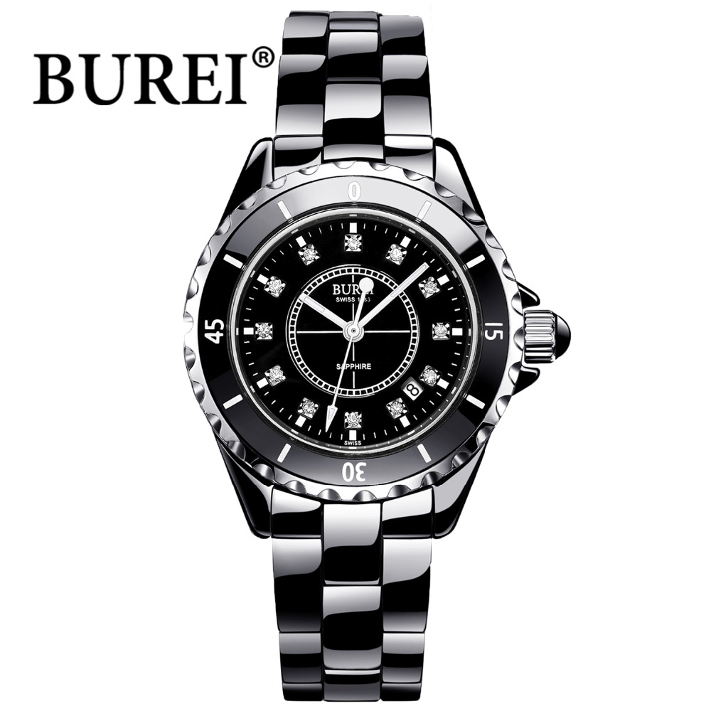 burei womens wristwatch fashion women watches luxury brand. Black Bedroom Furniture Sets. Home Design Ideas