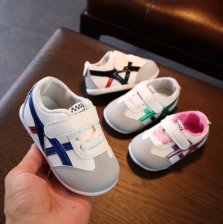 Spring Autumn Baby Girls Boys Casual Shoes Pachwork Toddler Shoes 0-2years 15-19 8189 K210 TX08
