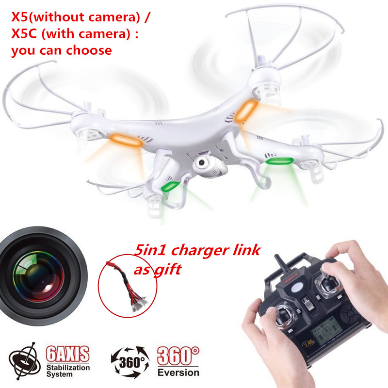 Quadrirotor Drone Syma x5c-1 caméra quadrirotor 2.4G 4CH Drone 6 axes drone x5c caméra télécommande RC quadrirotor livraison gratuite