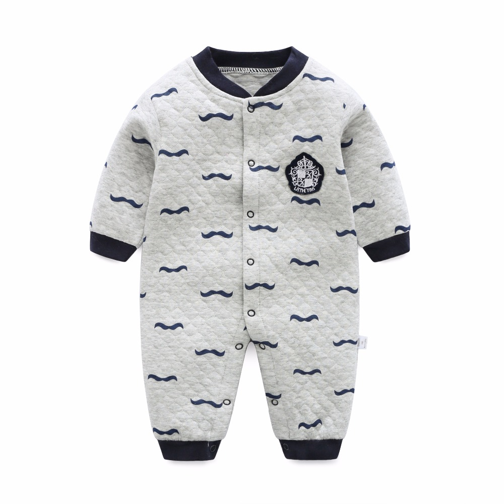 2018 New Fashion Newborn Baby Romper Cartoon Long Sleeve Baby Boy Girl Clothes 100% Cotton Thick warm Sleepwear Baby Rompers newborn baby romper winter clothes hooded cotton outdoor roupas para recem nascido long sleeve baby boy winter thick 607022