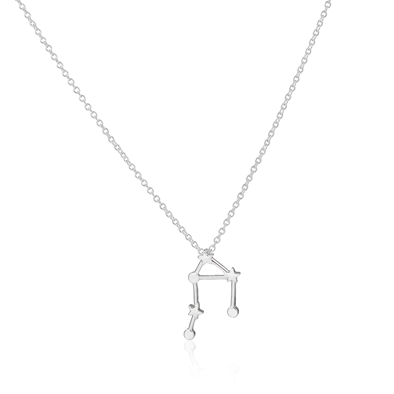 Jisensp 30pc wholesale Libra Zodiac Sign Astrology Necklace triangle and star sign font b chemistry b