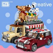 LOZ Technic Mini Building Blocks Hot Dog Cart Car Vehicle Assemable Kids Educational Toys for Children Creator Ice Cream Truck(China)