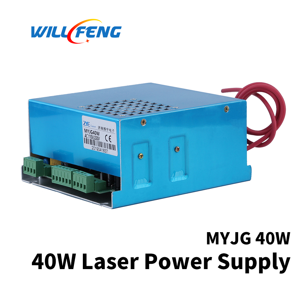 Will Feng 40w MYJG Co2 Laser Power Supply For 3020 4030 Co2 Laser Cutter Engraving Machine