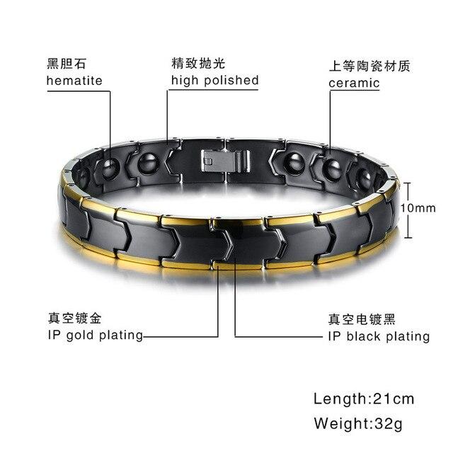 Купить черный цвет керамика гематит мужские браслеты модные ювелирные картинки