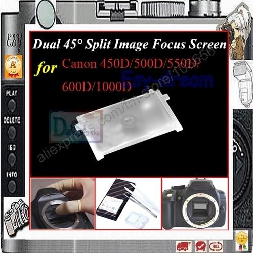 Dual 45 ° imagen dividida de pantalla de enfoque canon EOS 750D 760D 700D 650D 600D 500D 450D