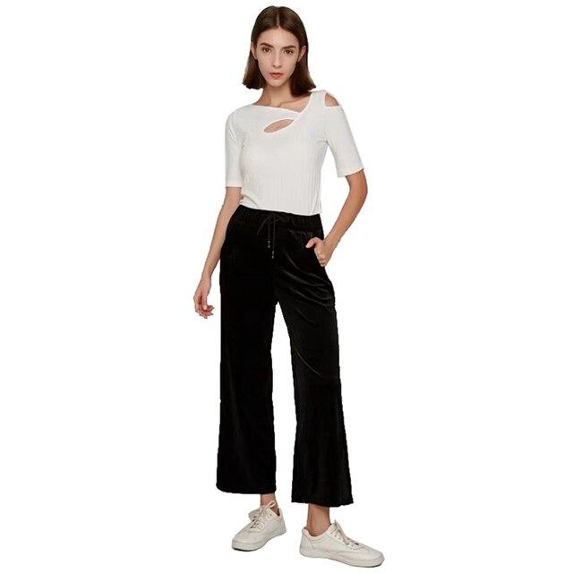 c303a1613f4 NYMPH 2017 Autumn Winter Casual Pants Vintage Velvet Harem Pants Thicken  Pockets Split Hem Plus Size Sweatpants Trousers Capris