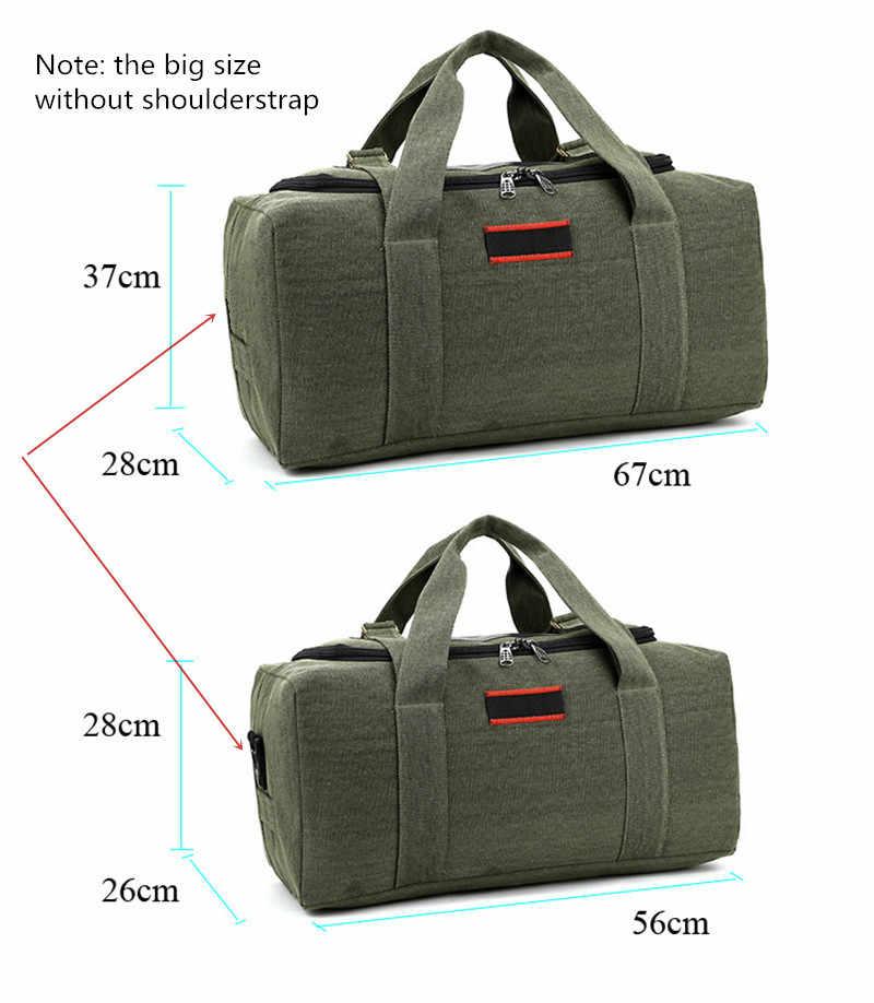 21fe3892baa9 ... 2019 холщовая дорожная сумка выходные сумки большой емкости Ночная сумка  на плечо мужские непромокаемые сумки- ...