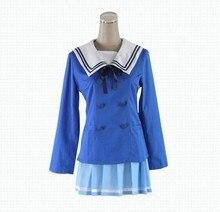Peruca Kyokai No Kanata Kuriyama Mirai Cosplay del traje del Anime uniforme escolar