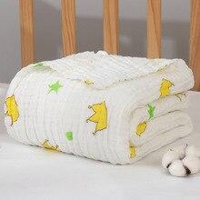 Детское одеяло бамбуковое детское банное полотенце хлопок детское муслиновое Пеленальное Одеяло s одноцветное муслиновое одеяло Размер 110*110 см