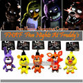 Newest 5 pcs/lot  FNAF Five Nights At Freddy's FREDDY & FOXY & Bonnie &Chica Mini Plush Toy 13 Cm Doll Pendant Birthday Gift