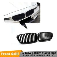 5 серии F10 F11 Реальные углеродного волокна спереди почек бампер сетки Гонки Грили для BMW M5 520d 523i 530d 530i 540i 535i 528d 10 16