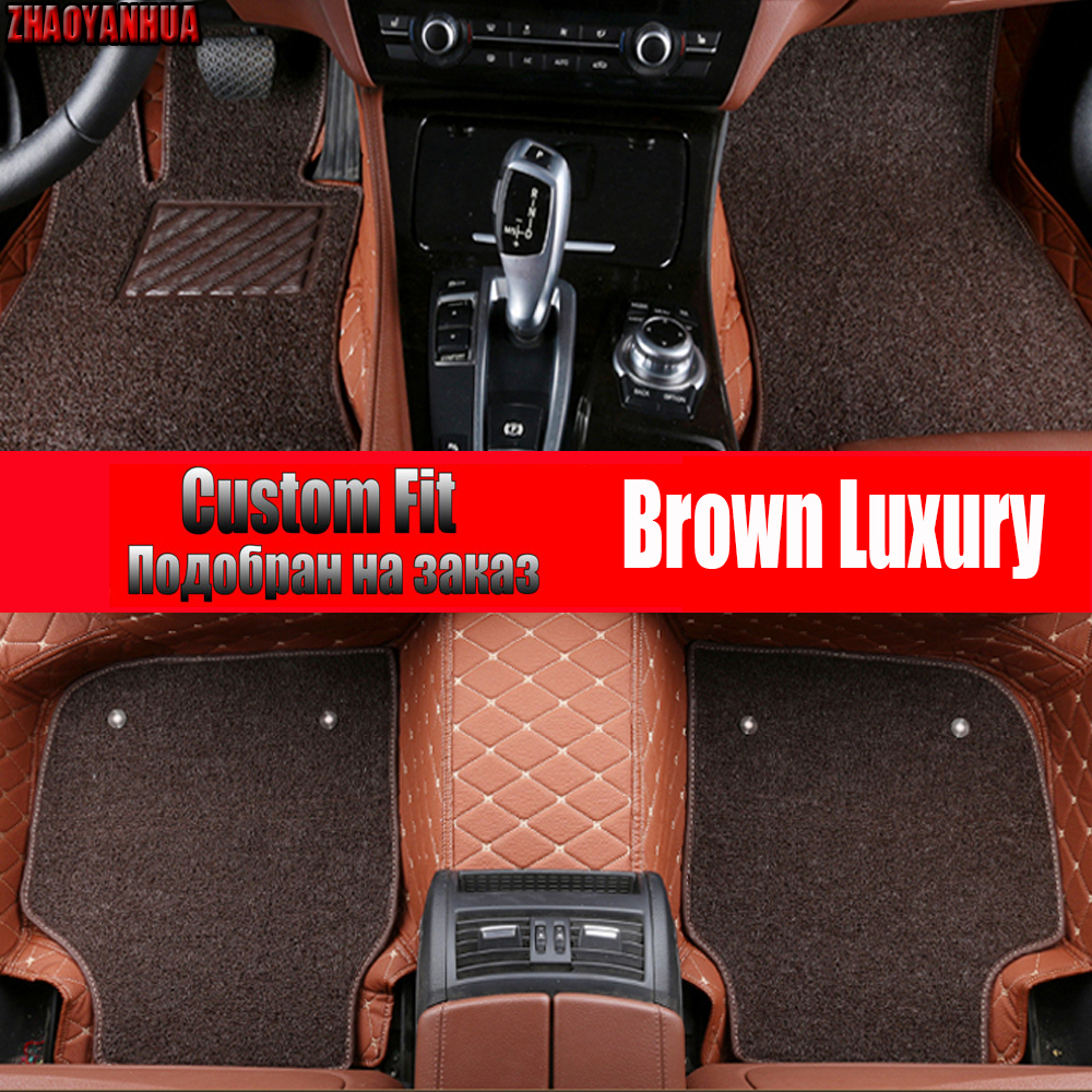 ZHAOYANHUA Car floor mats specially for Chevrolet Cruze 5D car styling heavy duty carpet leather rugs floor liners (2009 now