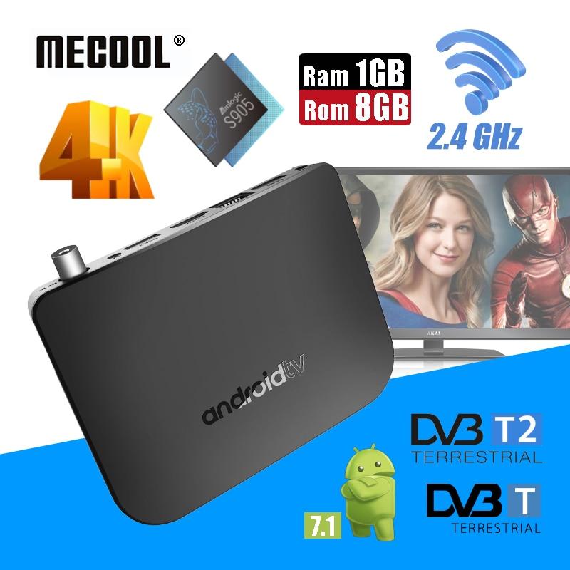 Mecool M8S Plus W Ram 1G Rom 8G Smart TV Box 2.4G Wifi Android 7.1 Combo Set-top Box 4K UHD 1080p DVB T2 Terrestrial TV Receiver mxiii 4k s802 2g ram 8g rom tv box