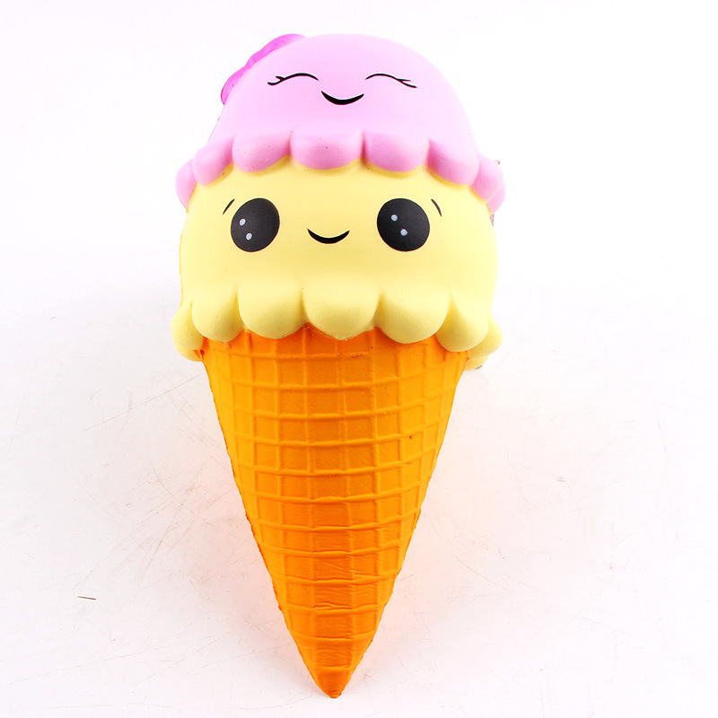 Squishy ice Cream Cone Slow Rising Soft Squishies Lovely Phone Straps Toys Stress Relief Toy Phone Decor Gift squishy Toys pa93 pu foam shrimp model squishy relieve stress toy