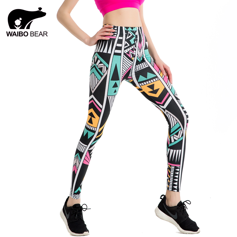 Leggings 2018 Summer Styles Sexy Fashion Women Fitness Leggings New Color Machine Game Pencil Trousers Jeggings WAIBO BEAR