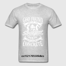 90809e062 Men T shirt Concrete - Strongest work with concrete tee fashion funny t-shirt  novelty