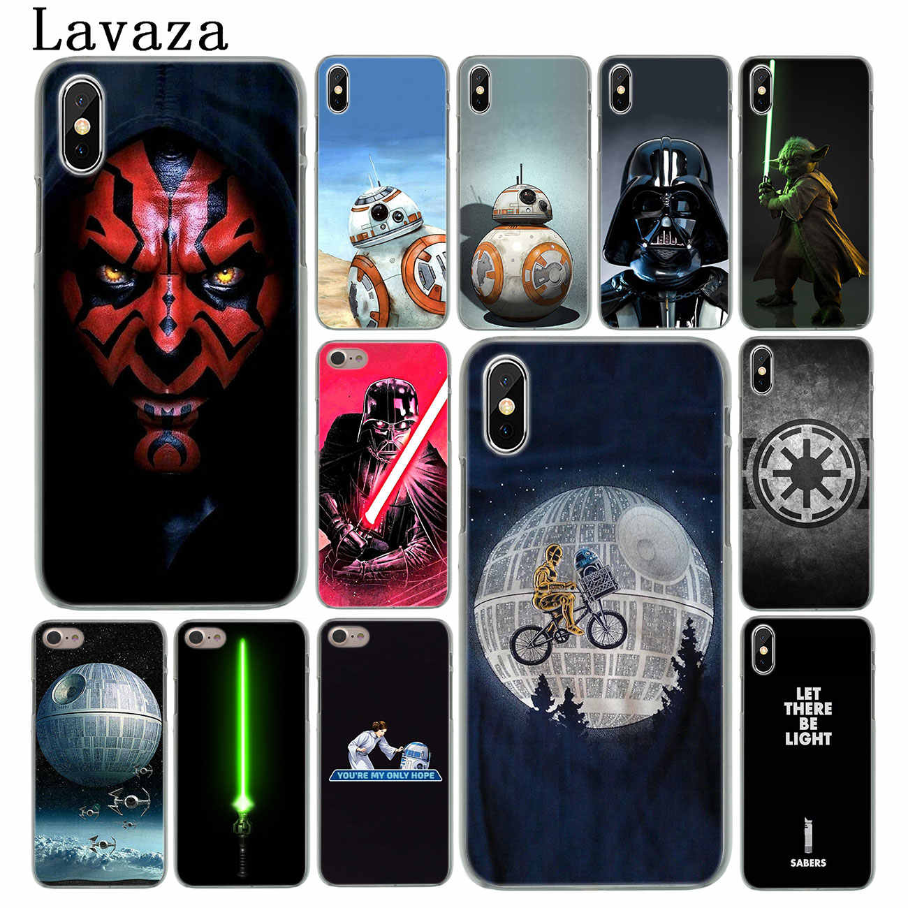 Жесткий чехол Lavaza Star Wars для телефона Apple iPhone XS Max X XR 6 6 S 7 8 Plus 5 5S SE 5C 4S 10
