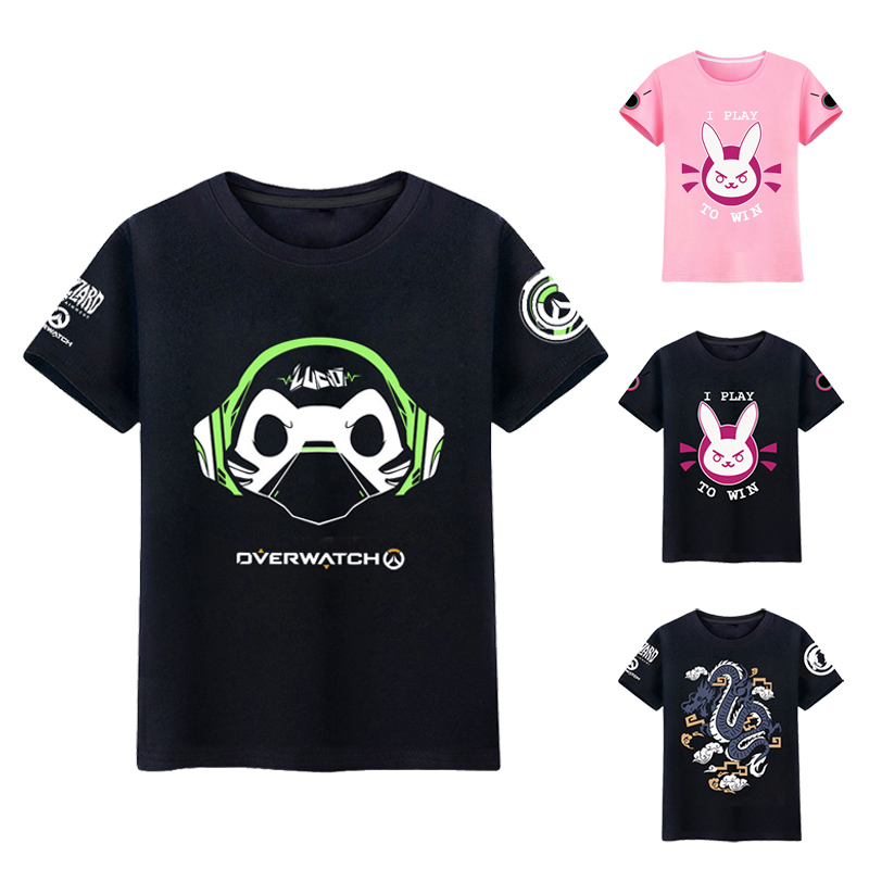 2018 Summer D.va   T  -  shirt   Men Lucio   T  -  shirt   Hanzo Tees Mccree Tee Dva Short Sleeve   T  -  shirts   Hana Song Dragon Male   T     Shirt