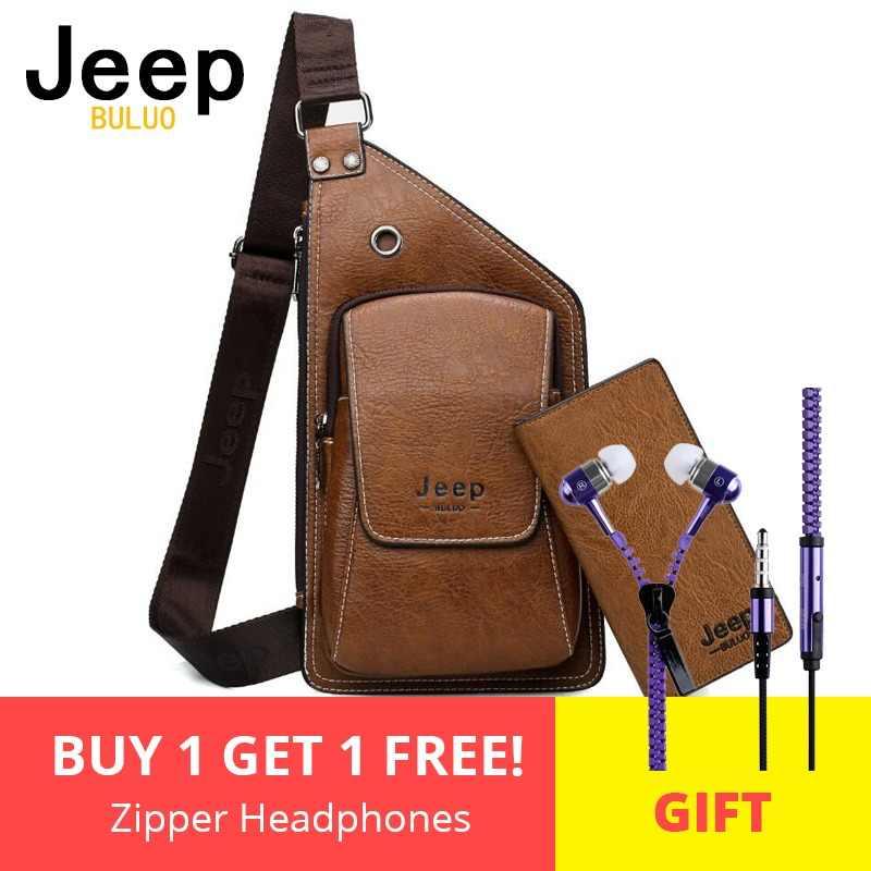 ab31da28c7fb Мужские нагрудные сумки 2 шт. набор Jeep buluo брендовые летние сумка  путешественника сумка для человека