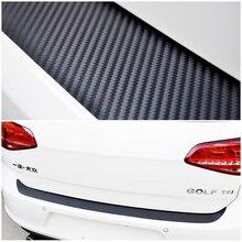 Защита заднего бампера из углеродного волокна наклейка и наклейки для автомобиля-Стайлинг для Volkswagen VW Golf 6 MK6 GTI аксессуары
