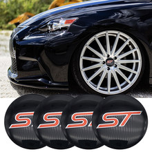 4pcs 56.5mm ST logo Stickers Auto Car Wheel Center Hub Caps sticker For Ford Focus 2 Focus 3 FIESTA Kuga FUSION ESCAPE EDGE(China)