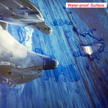 3D Floor Mural Wallpaper Waterfall Creek Bridge