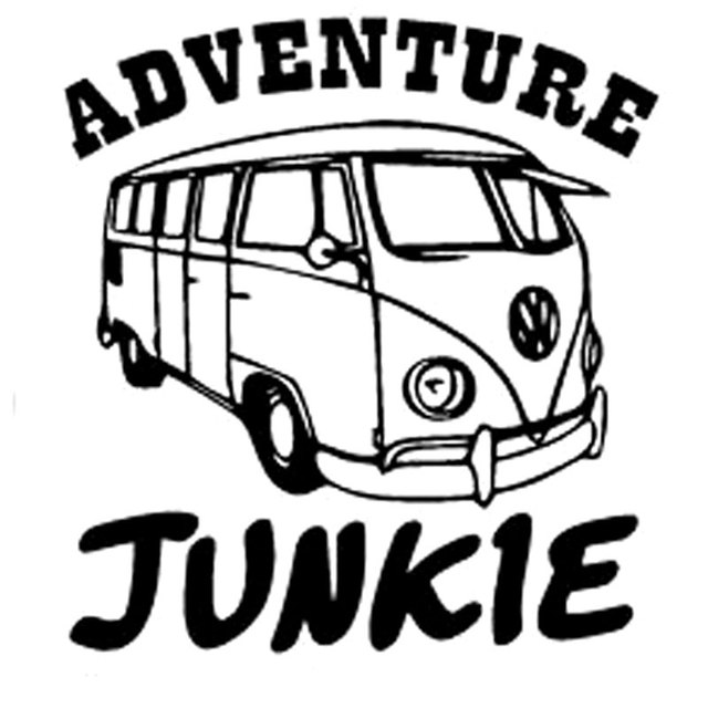 CMCM Adventure Junkie Funny Car Sticker Decal Vinyl Car - Funny car decal stickers