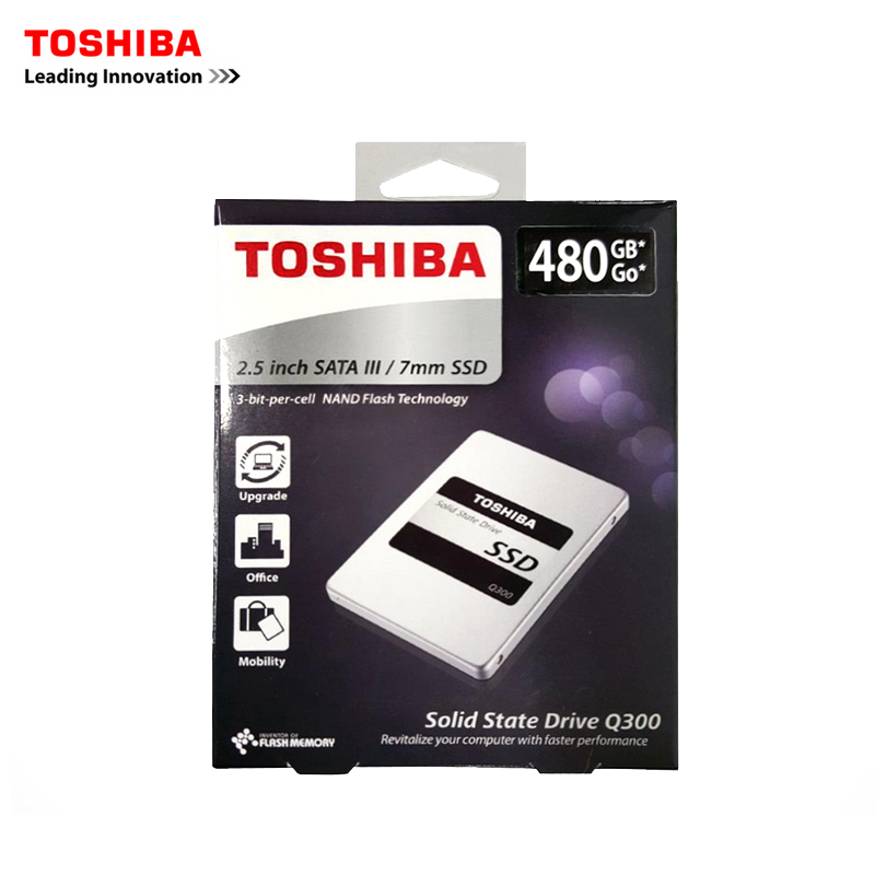 Toshiba SSD disk 6Gb/s SATA III 2.5  450MB/s 960GB 120G 240G 480G Products Internal solid state disk drives Q300 series (11.11) for 960gb ssd for s3520 series 2 5in sata 6gb s 3d1 mlc pn ssdsc2bb960g701