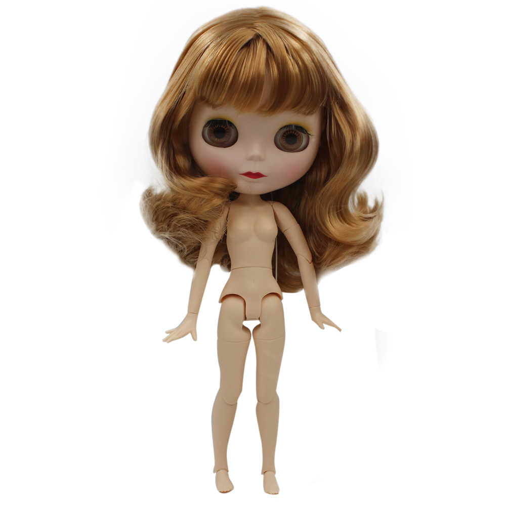Blyth Boneca BJD, Boneca Blyth Neo Fosco Rosto Bonecas Pode Mudado de Maquiagem e Vestido Nude Personalizado DIY, 1/6 Bola Bonecos Articulados SNO9