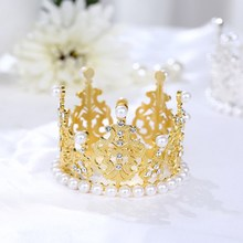 Cake Crown Decoration Crystal Female Birthday Adult Headband Baking OrnamentsHome