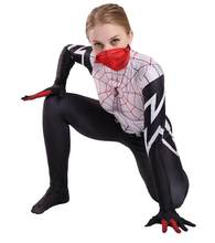 Halloween cosplay costume 3D digital print Zentai anime Spider-Man female Ge GWen red black spider tights jumpsuit(China)