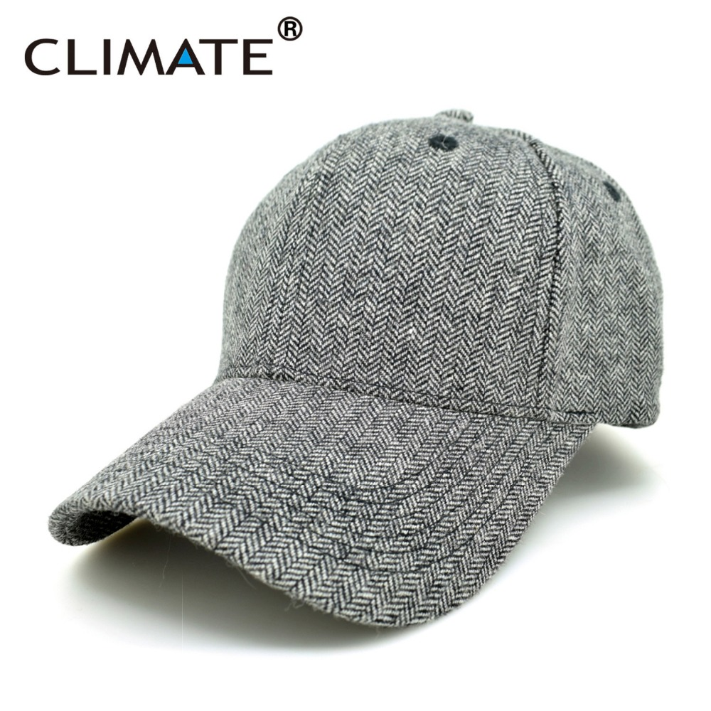 CLIMATE Men Women No Logo Brushed Best Heavy Thick Massy Warm Baseball Caps Twill Sports Active Casual One Size Adjustable Hat