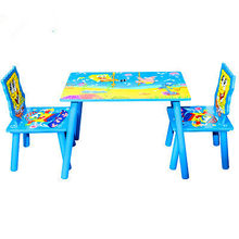 Children Furniture Sets one desk+two chairs sets wood kids Furniture sets kids chair and study table sets minimalist 40*60*42*cm(China)