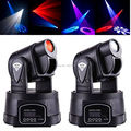 2pcs 15w Mini Moving Head LED Party Stage Dj Disco Club Spot Light RGB Color Mixing Dimmer & Strobe Led Bar Stage Light