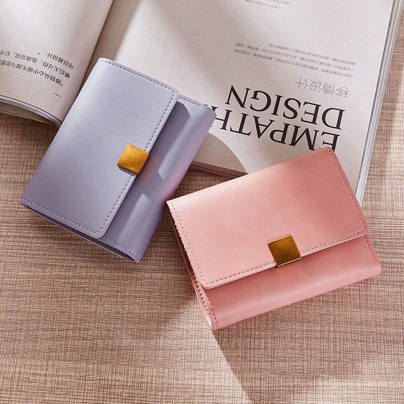 Fashion Retro Multi-card Bit Coin Purse Pu Leather Women Wallet Mini Clutch Card Holder Womens Wallets Lady Purses Bolsas QL