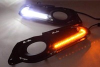 LED DRL Daytime Running Light Top Quality With Yellow Turn Signals For Honda Vezel 2014 Novel