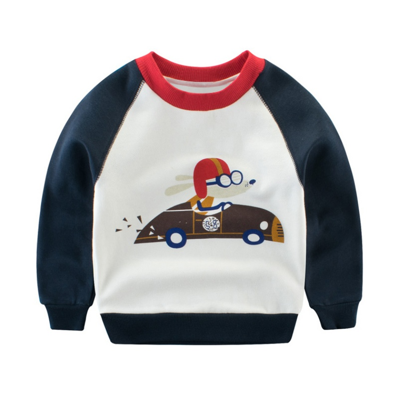 2018 Spring Autumn Baby Boys Hot Selling Long Sleeves Cute Cartoon Pattern Sweatshirts Children Kids Cotton Children Clothing