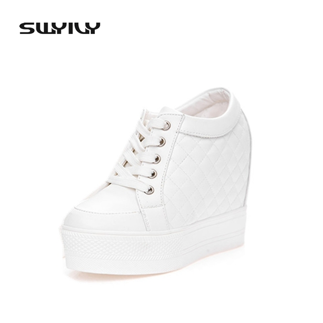 43f5a1aa518 Discount Wedge High Heels 10cm Women Shoes Height Platform Shoes Woman  Ankle Boots Chaussure Femme 2017