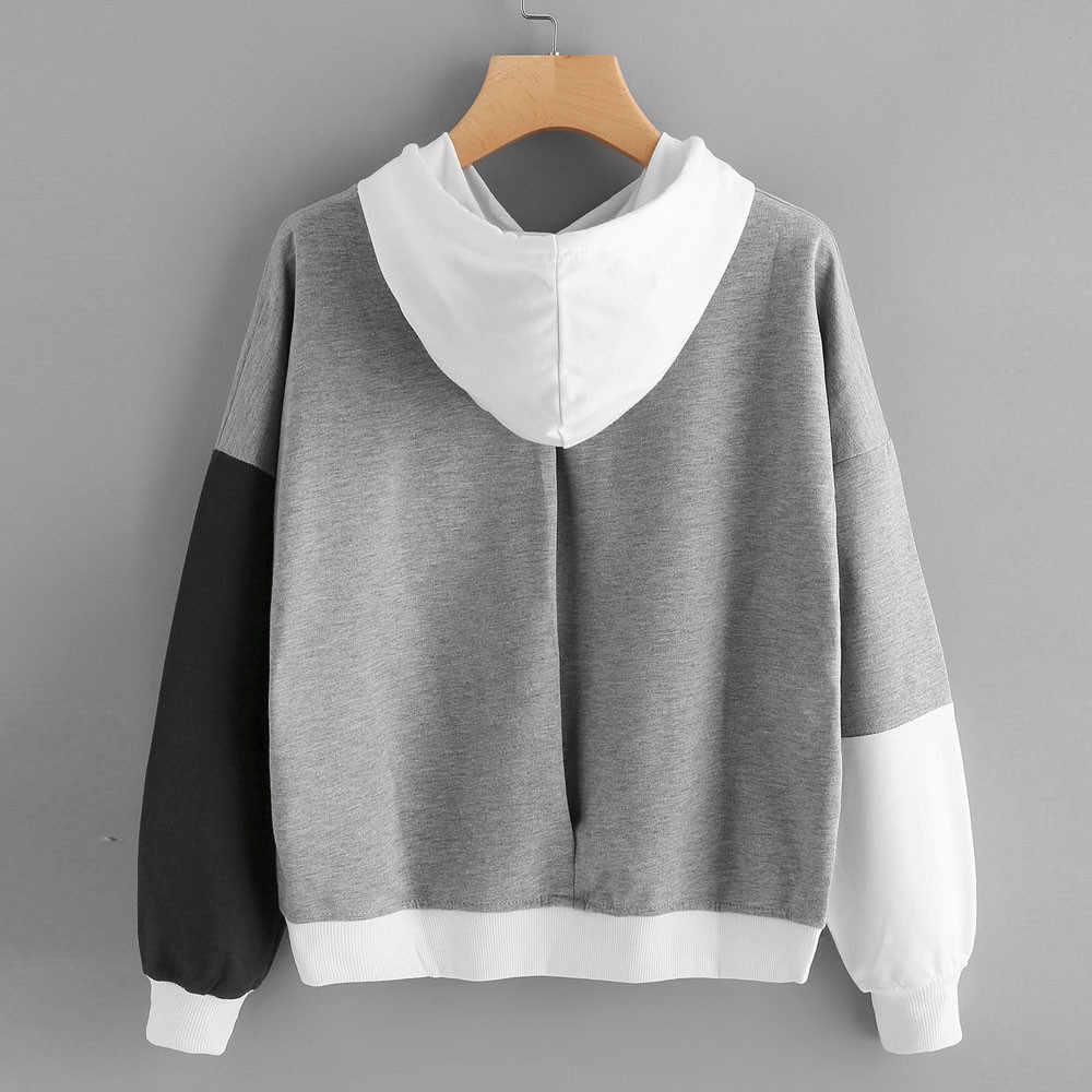 נשים מכתבי נים חולצות 2019 יוקרה ארוך שרוול סלעית סוודר חולצות רחב מימדים קפוצ 'ון Sudadera Mujer Moletom
