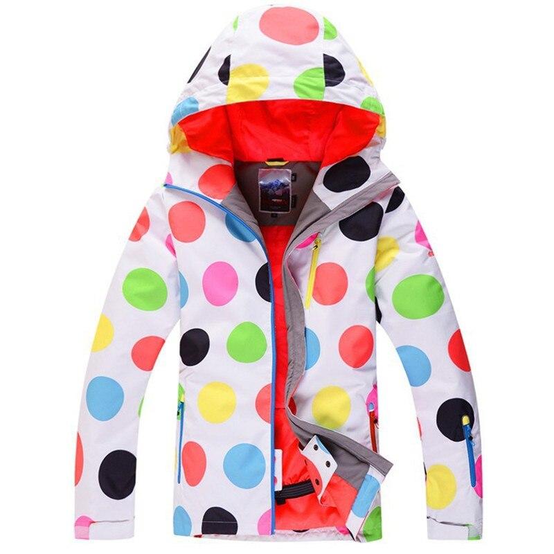 Dot Colorful Gsou Snow woman Ski jackets 10K Waterproof Windproof warm Snowboarding jacket outdoor Snow coat winter for female