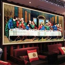 QIANZEHUI, elmas nakış, yuvarlak elmas son akşam yemeği İsa tam taklidi 5D elmas boyama çapraz dikiş, iğne