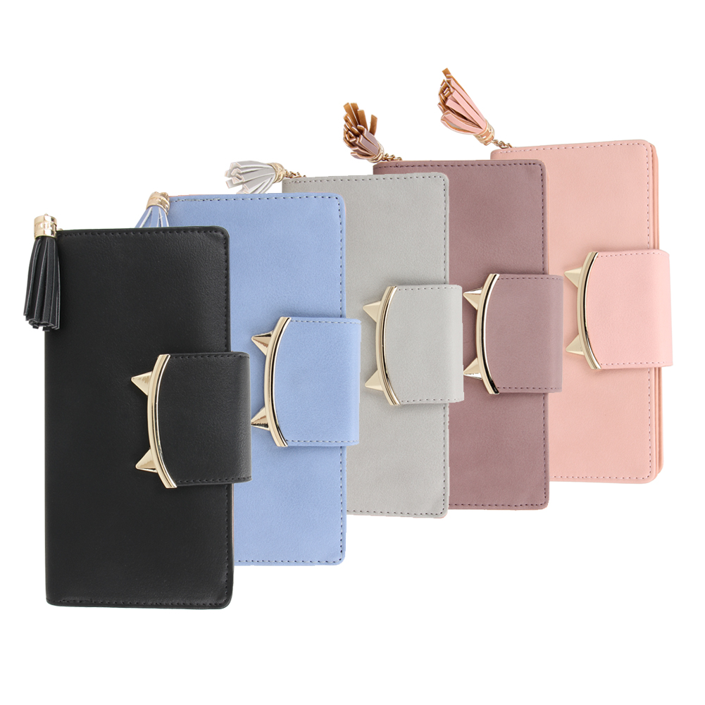 Cute Cat Ears Trifold Female Purse