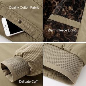 Image 2 - Куртка LOMAIYI Мужская зимняя, жакет из чистого хлопка, с воротником стойкой, флисовая подкладка, повседневная верхняя одежда, BM290