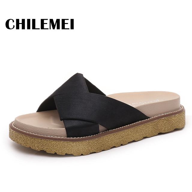 d8e90303fe8e Female summer slipper cheape from china with good quality flat sandals  women shoes consise pantofle sandals fashion slides