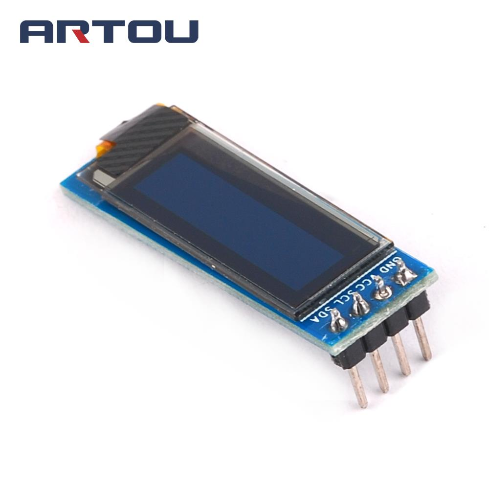 1PCS 0.91 inch 128x32 128 32 I2C IIC Serial Blue OLED LCD Screen