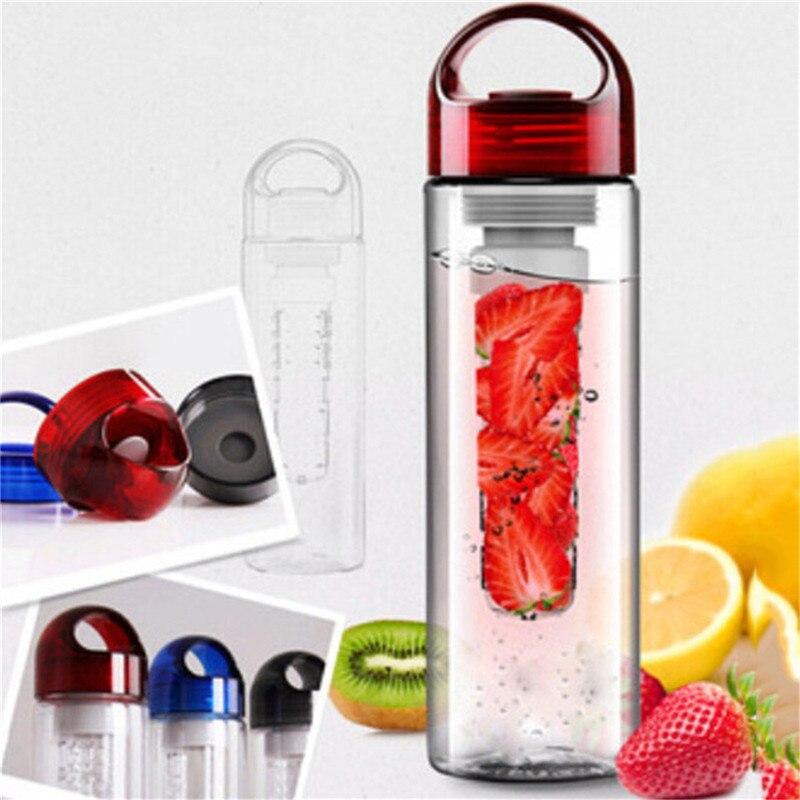 700 мл Портативный Пластиковые фрукты вливая Infuser Фильтр бутылка для воды Настой Drink бутылки для Открытый Sport bottle