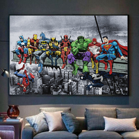 Superheroes Marvel DC United Canvas Poster 5